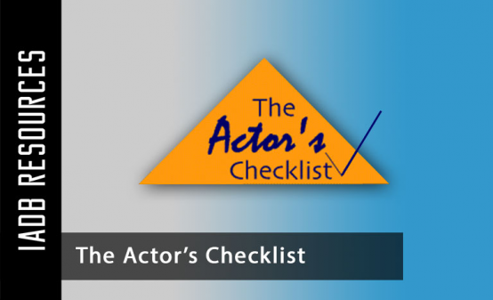 The Actor's Checklist serves as a news and information source for media arts and...