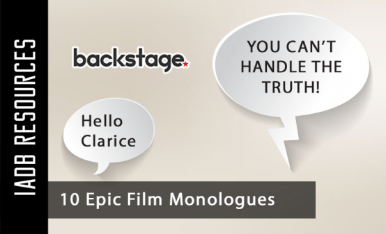 The monologue. It's the time where an actor either rises to the occasion or crashes and...