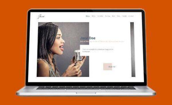 New Actor Website Design - Feather Weight
