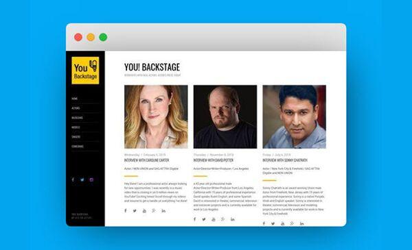 announcements,features,tools,actor websites,spotlight,opportunities
